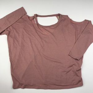 Chaser Top Distressed Oversized T-shirt Tee Pink